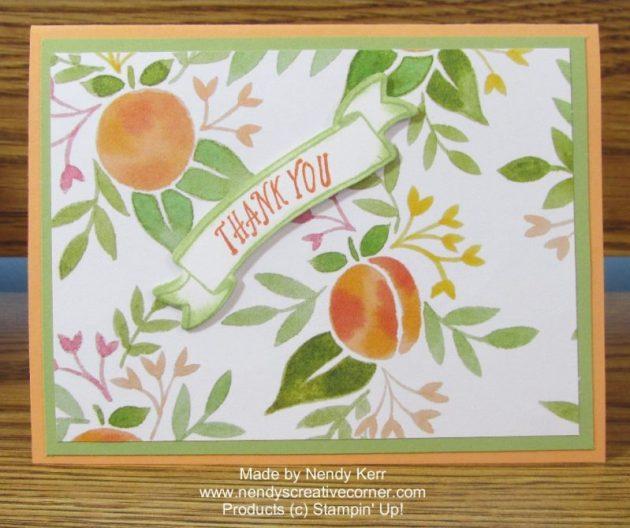 Peachy Thank You Card