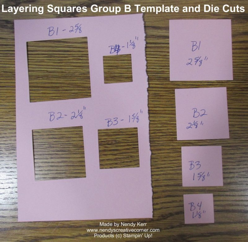 Layering Squares Framelits Template B