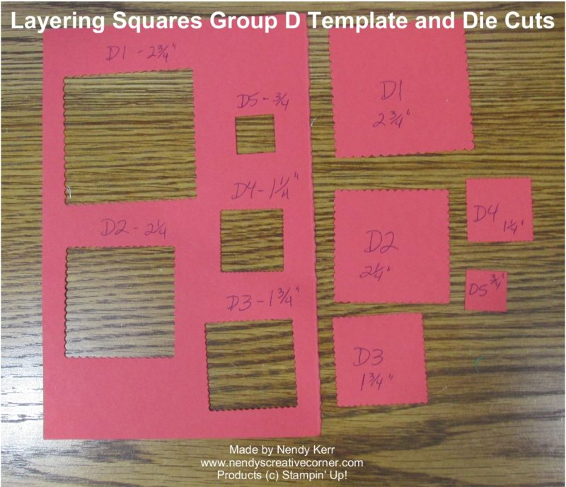 Layering Square Framelits Template D