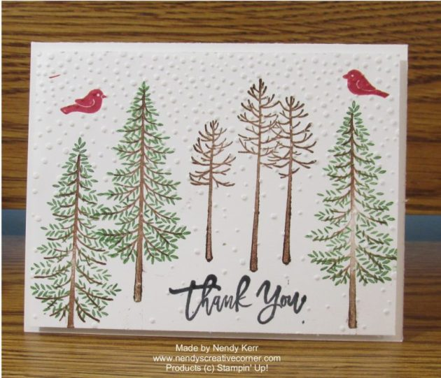 Thoughtful Branches Forest Trees Card