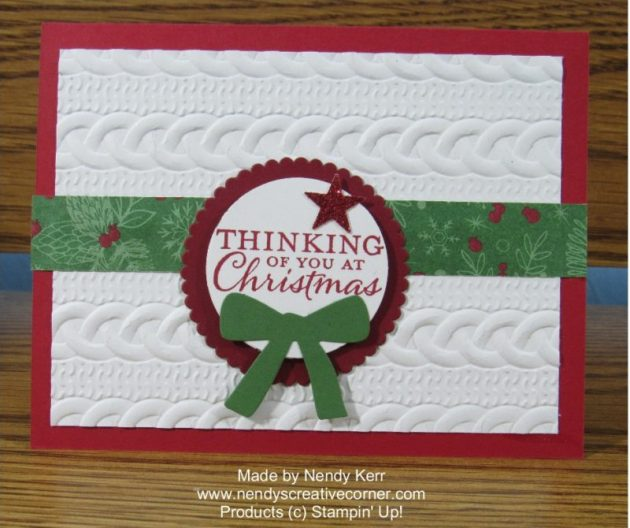 Thinking of You at Christmas Card
