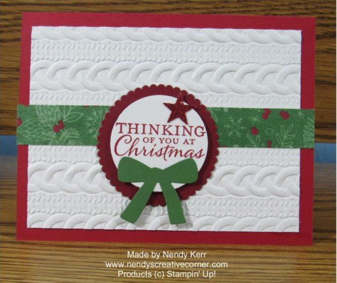 Thinking of You at Christmas Card