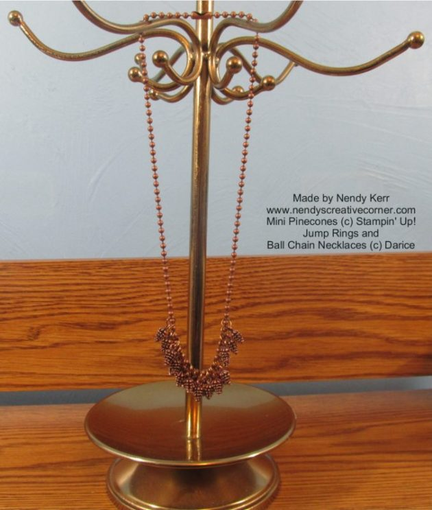 Pinecone necklace