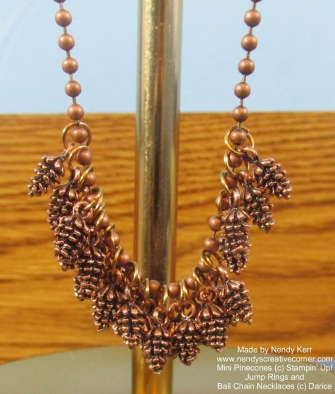 Pinecone Necklace-Close up