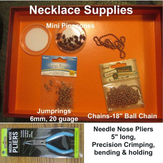 Pinecone Necklace Supplies