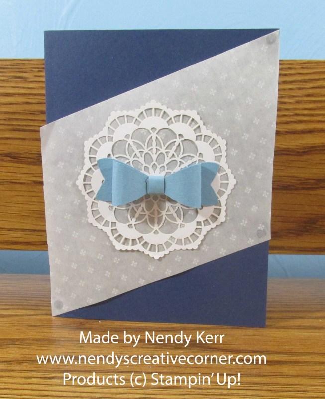 Glassine Bow Card