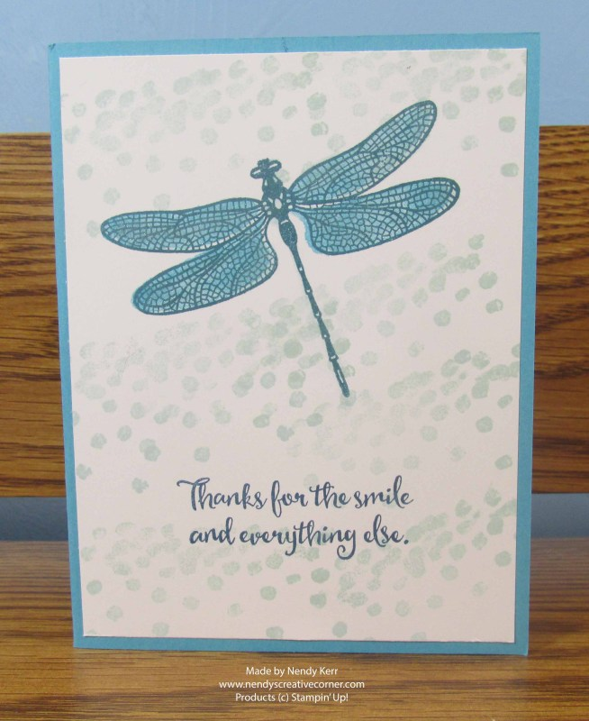 Shimmery Dragonfly Card