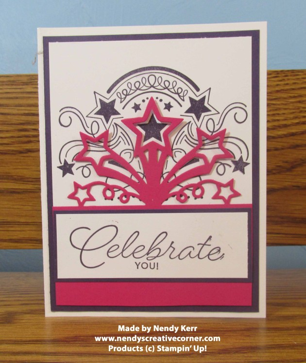 Celebrate You star blast card