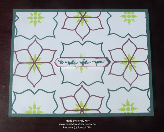 Eastern Beauty Stamped Background Card