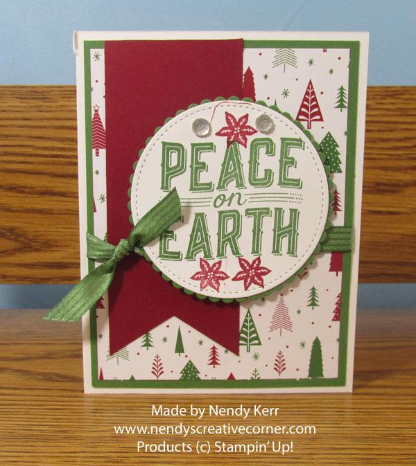 Peace on Earth Banner Christmas Card
