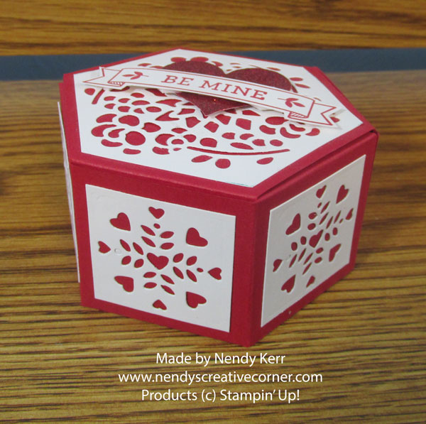 Valentine Hexagon Window Box