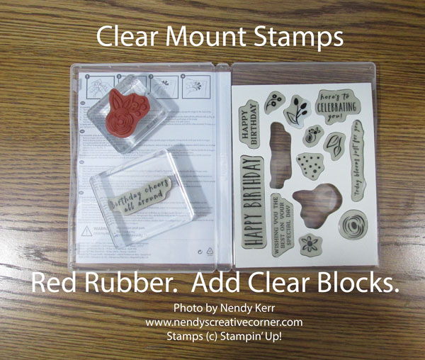 Clear Mount Stamps in Case