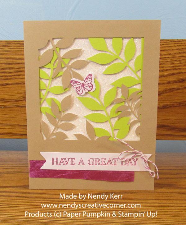 December Paper Pumpkin card #1