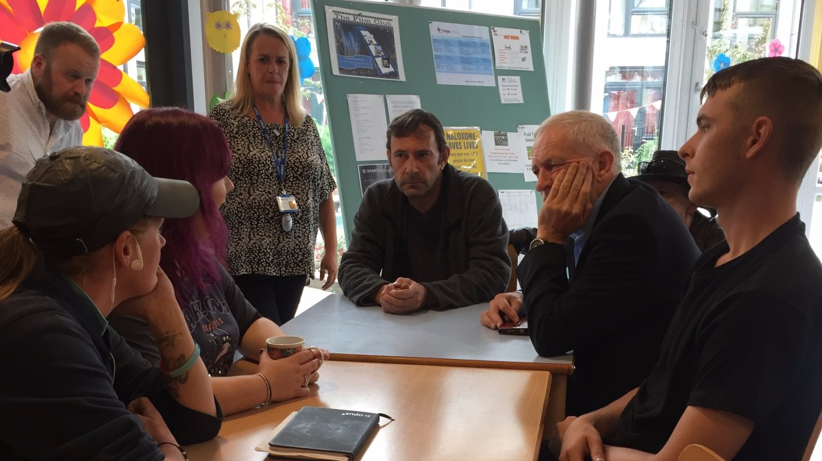 Where did Jeremy Corbyn go to learn about Hope?