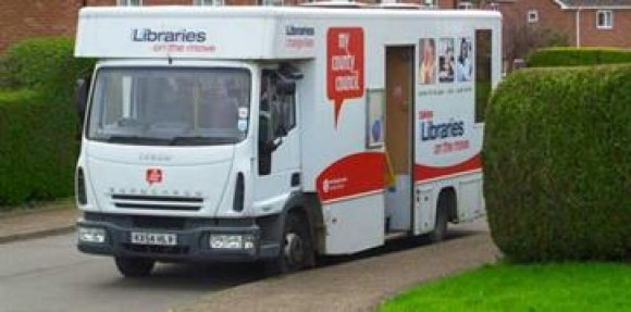 Northamptonshire Mobile Library service is parked