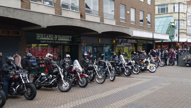 Bikers in a row 2