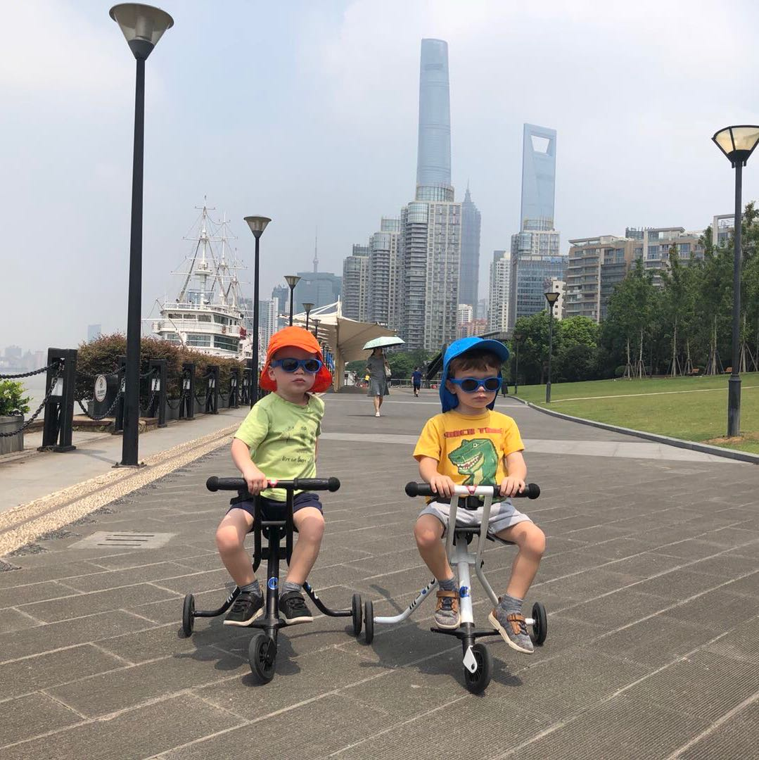 Oliver and Finlay ride C4C in Shanghai