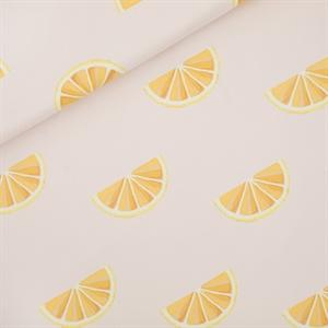 FRENCH TERRY | SYAS - Oranges - L - Sleutelbloem Roze - R