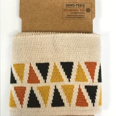BOORDSTOF | CUFFS Driehoek beige-bruin-oker | 110x7cm