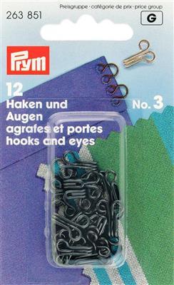HAKEN & OGEN MESSING nr.3 - ZWART (12st)