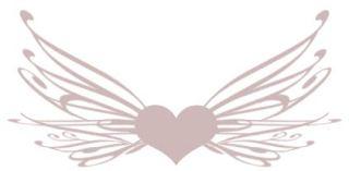 羽根の生えたハート(5パターン)
