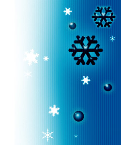 コミカルな雪の結晶(6パターン)
