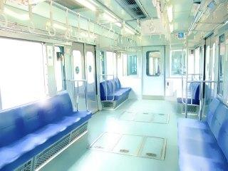 電車の車内 差分:日中/夕方/夜