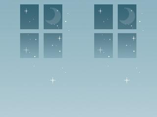 窓と月(4パターン)