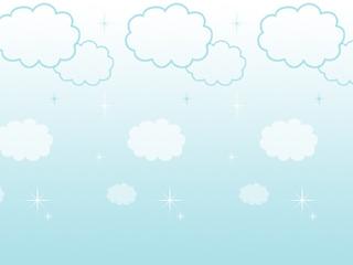コミカルな雲(4パターン)