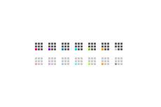 9つのマス目をくるくる回るワンポイント(透過GIF)(GIFアニメ)(14パターン)