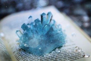 【高解像度】青い結晶(5パターン)