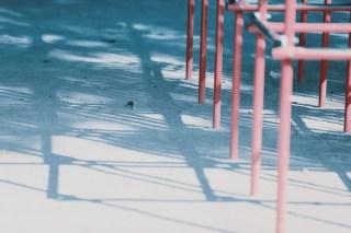 【高解像度】ジャングルジムの影(3パターン)