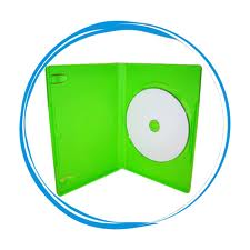 MICROSOFT XBOX 1 OFFICIAL Green dvd case 14mm to hold 1 disc, Xbox replacement case-64