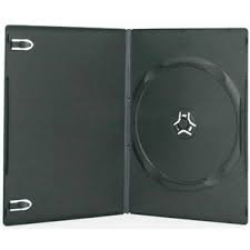 STANDARD SINGLE DVD CASE 14MM BLACK
