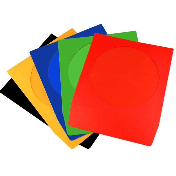 paper sleeve 100 pack with window neo media coloured