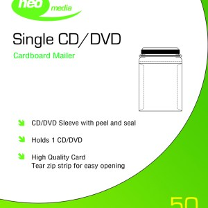Neo CD DVD Card Mailer Peel & Seal