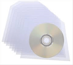 100 CD DVD DISC PLASTIC SLEEVE WALLET 100 MICRON