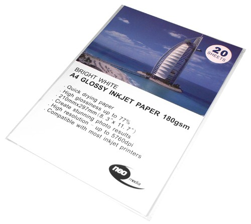 neo 180 a4 glossy paper