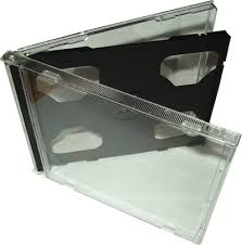 cd double case with black tray