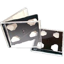 double cd jewel case with black tray 10.4mm