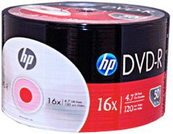 HP DVD-R LOGO 50 PACK SILVER