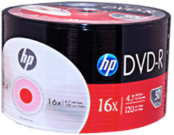 HP DVD-R LOGO 50 PACK SILVER