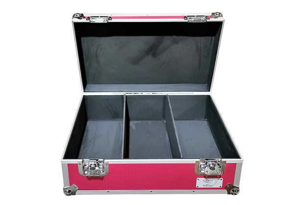"aluminium storage case 500 capacity for 7"" singles in Pink"