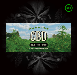 Resonance Farm Logo with CDB Oil