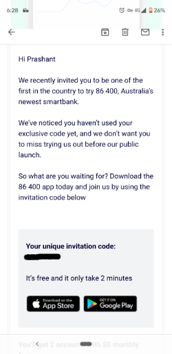8600 sign up process | Neobanks in Australia