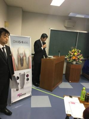 司会進行役:徳山営業所所長の平川(写真中央)、中国地区主管の宮本(写真左)