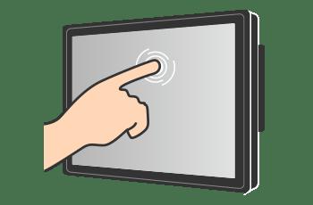 Ecran tactile - doigt