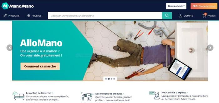ManoMano online Marketplace for DIY, home improvement