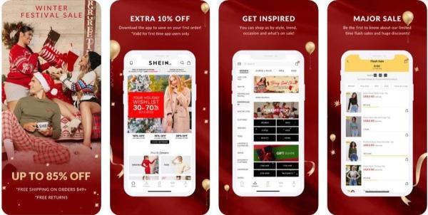 SHEIN'S APP for fast fashion on iOS