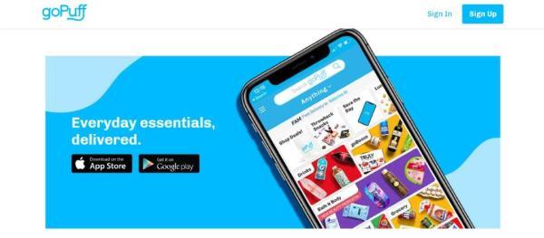 goPuff Homepage
